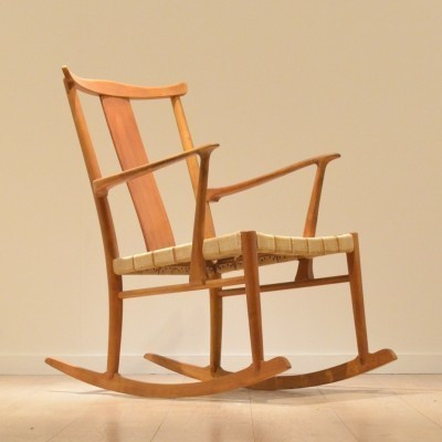 Model 1773 rocking chair from the forties by unknown designer for Fritz Hansen