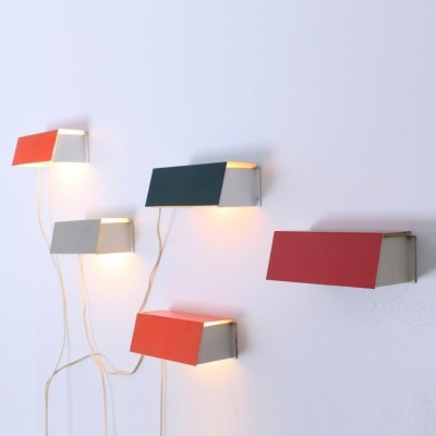 Set of 5 7102 Sconce wall lamps from the fifties by J. Hoogervorst for Anvia Almelo