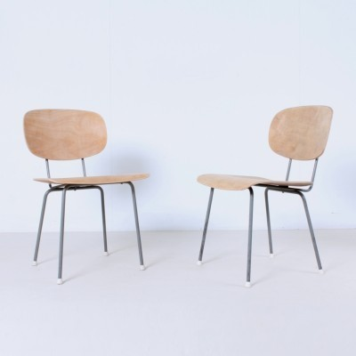 2 model 116 dinner chairs from the fifties by Wim Rietveld for Gispen