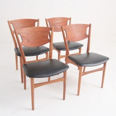Set of 4 dinner chairs from the fifties by Helge Sibast for Sibast