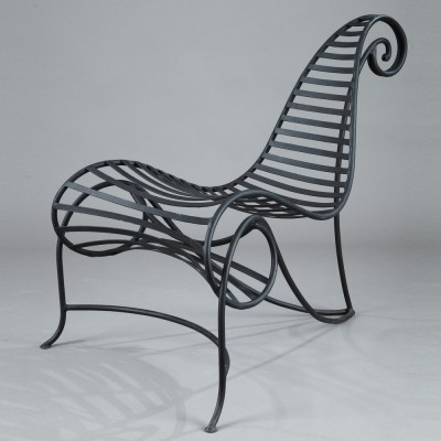 2 Spine lounge chairs from the nineties by André Dubreuil for unknown producer