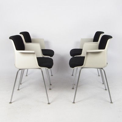 6 2215 / 2225 dinner chairs from the seventies by André Cordemeyer for Gispen