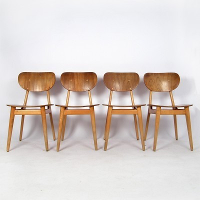 Set of 4 SB13 dinner chairs from the fifties by Cees Braakman for Pastoe
