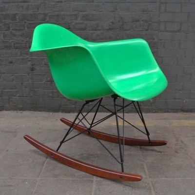 RAR Kelly Green rocking chair from the fifties by Charles & Ray Eames for Herman Miller
