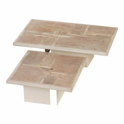 Set of 2 coffee tables from the eighties by Paul Kingma for Kingma