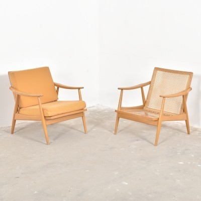 Set of 2 lounge chairs from the fifties by unknown designer for Gustav Bergmann