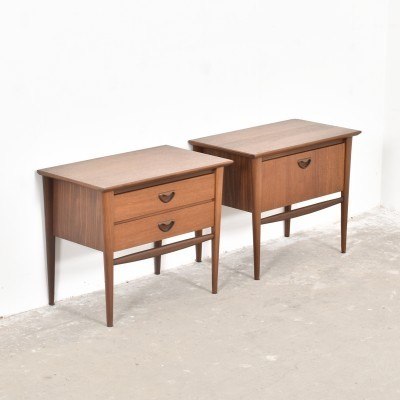 Set of 2 cabinets from the fifties by Louis van Teeffelen for Wébé