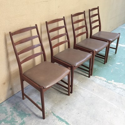 Set of 4 High Back dinner chairs from the sixties by Arne Vodder for Vamo Sonderborg