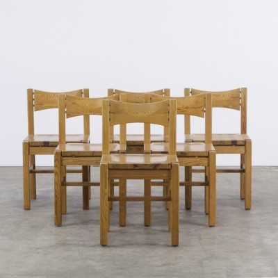 Set of 6 dinner chairs from the sixties by Ilmari Tapiovaara for Laukaan Puu Finnland