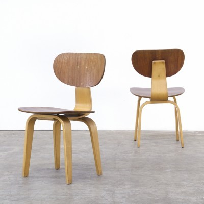 Set of 2 SB02 dinner chairs from the fifties by Cees Braakman for Pastoe