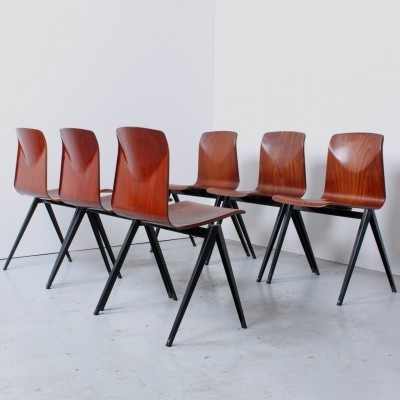 Set of 6 S 22 dinner chairs from the sixties by unknown designer for Thur op seat