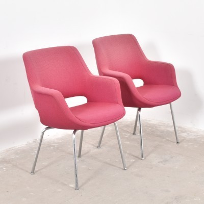 Set of 2 arm chairs from the sixties by Olli Mannermaa for Martela