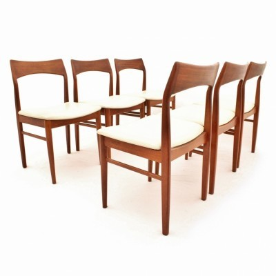 Set of 6 dinner chairs from the fifties by Henning Kjærnulf for Vejle Stolefabrik