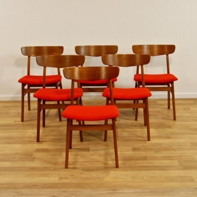 10 dinner chairs by unknown designer for Farstrup