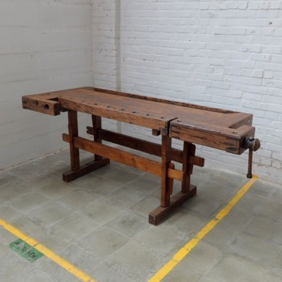 Antique Carpenter Bench dining table from the twenties by unknown designer for unknown producer