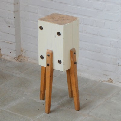 Butcher Block side table, 1950s