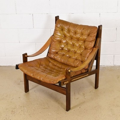 Hunter chair lounge chair from the sixties by Torbjørn Afdal for Bruksbo Norway