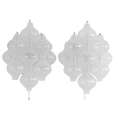 Set of 2 Tulipan 9WA wall lamps from the sixties by unknown designer for Kalmar