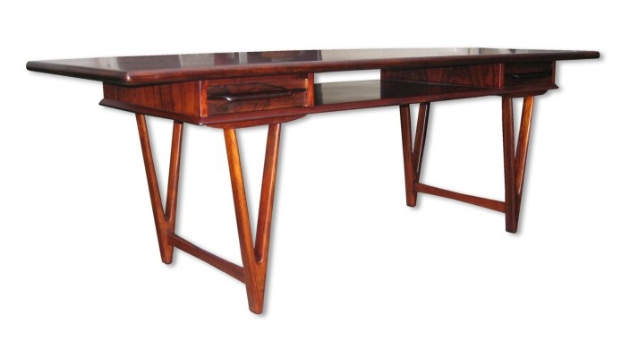 Model 32 coffee table by EW Bach for Möbelfabrikken Toften Denmark, 1960s