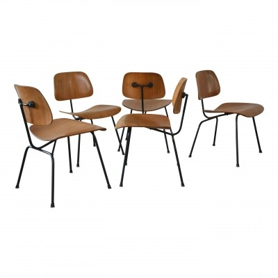 5 DCM dinner chairs from the fifties by Charles & Ray Eames for Herman Miller