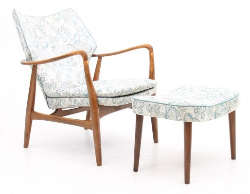 Lounge chair from the forties by Ib Madsen for Madsen & Schubell