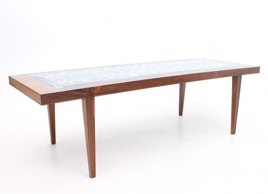 Tiletop model coffee table from the sixties by Severin Hansen for Haslev Møbelsnedskeri
