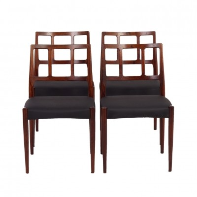 Set of 4 dinner chairs from the sixties by Johannes Andersen for Uldum Møbelfabrik