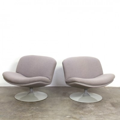 2 F504 lounge chairs from the sixties by Geoffrey Harcourt for Artifort