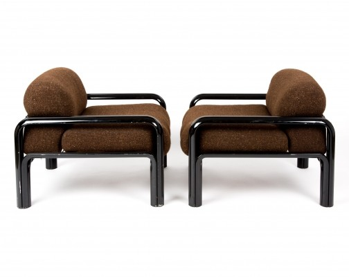 Set of 2 lounge chairs from the seventies by Gae Aulenti for Knoll
