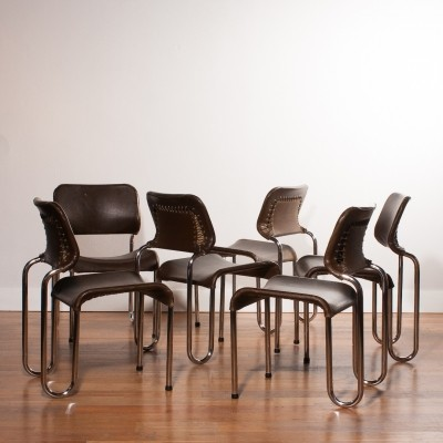 Set of 6 dinner chairs from the seventies by Jan Ekselius for unknown producer