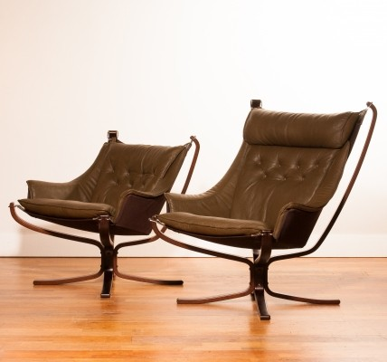 Set of 2 arm chairs from the seventies by Sigurd Ressell for unknown producer