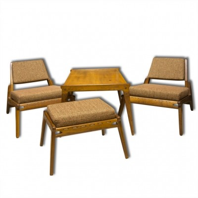 Set of 4 seating groups from the fifties by unknown designer for unknown producer