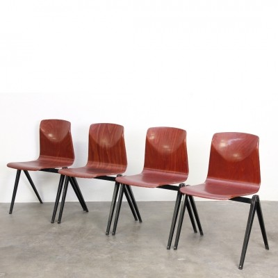 10 S22 dinner chairs from the sixties by unknown designer for Galvanitas
