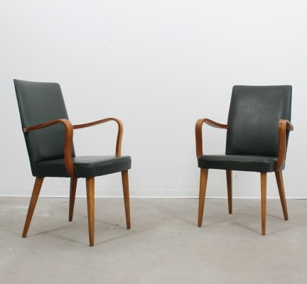 Set of 2 lounge chairs from the forties by Anonima Castelli for unknown producer