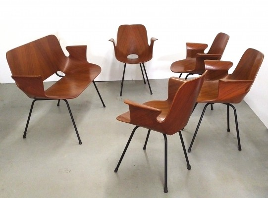 Set of 5 Medea seating groups from the fifties by Vittorio Nobili for Fratelli Tagliabue