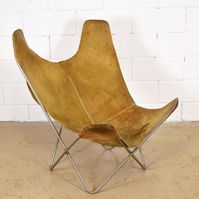 Butterfly lounge chair by Jorge Ferrari Hardoy for Knoll, 1960s