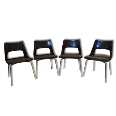 Set of 4 lounge chairs from the fifties by Kay Korbing for Godtfred H Petersen
