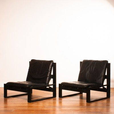 Set of 2 lounge chairs from the seventies by Sonja Wasseur for Sonja Wasseur