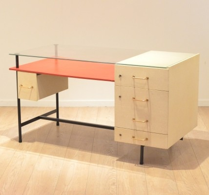 Writing desk from the fifties by André Monpoix for unknown producer