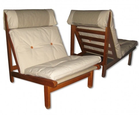 Set of 2 Rag lounge chairs from the sixties by Bernt Petersen for Schiang