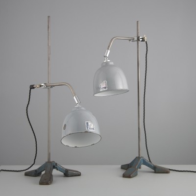 2 desk lamps from the fifties by unknown designer for Benjamin
