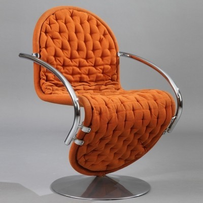 4 1-2-3 System dinner chairs from the seventies by Verner Panton for Fritz Hansen