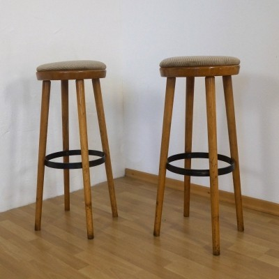 Set of 2 stools from the fifties by unknown designer for Spahn Stadtlohn