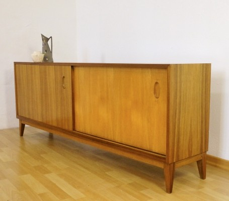 Walnut sideboard from the fifties by Georg Satink for WK Möbel