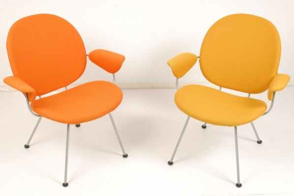 8 Model 340 Triënnale / Model 80 arm chairs from the fifties by W. Gispen for Kembo