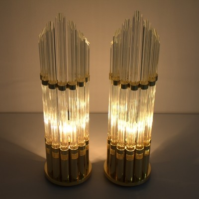 Set of 2 desk lamps from the seventies by unknown designer for Murano