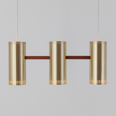 Cylinder III hanging lamp from the sixties by Jo Hammerborg for Fog & Mørup