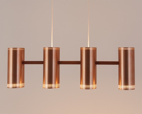 Cylinder IV hanging lamp from the sixties by Jo Hammerborg for Fog & Mørup