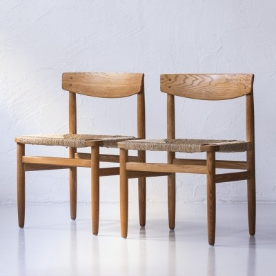 Set of 2 dinner chairs from the fifties by Børge Mogensen for Karl Andersson & Söner