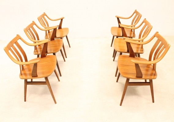 12 dinner chairs from the sixties by unknown designer for unknown producer